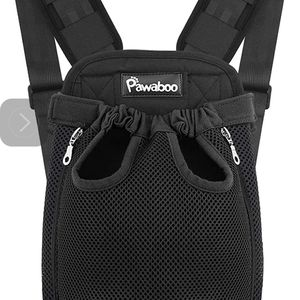 Pawaboo Pet Cat Dog Carrier Backpack Head Legs Out Black Harness MEDIUM for Sale in Westley, CA