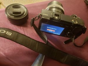 Sony A6000 mirrorless 24.3 MP Digital Camera with extra Lens for Sale in West Springfield, MA