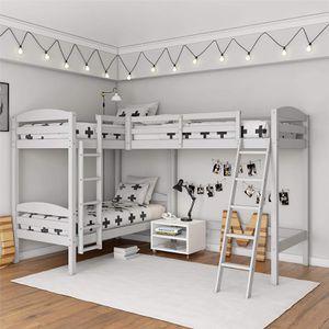 EW Dorel Living Clearwater Triple Wood Bunk Bed, Twin Size Beds, White Model: DL8794W for Sale in Nashville, TN