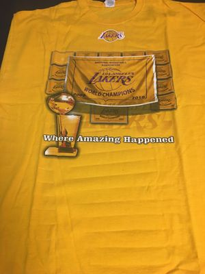 Los Angeles Lakers NBA Championship Collectible T-Shirts ($30 each) for Sale in Alexandria, VA