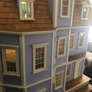 CHILDRENS DOLL HOUSE WITH ACCESSORIES AND ADDITIONAL TRIM. for Sale in Winchester, CT