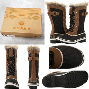 Women's Asymmetrical Mid-Calf Fashion Snow Boots (Black / Brown) - Size 6 for Sale in BROOKSIDE VL, TX