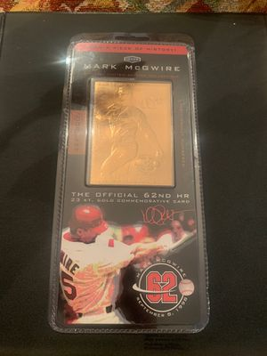 Gold mark McGwire baseball card for Sale in Wellford, SC