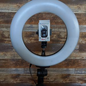 18 inch Ring Light Dimmable LED Adjustable to Cool White or Warm Tone Photography/Videos Barbers Salon Makeup Artist $110 for Sale in Chino Hills, CA