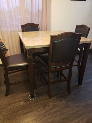 Dining marble table with 4 chair look good and clean for Sale in El Cajon, CA