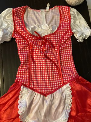 Size 12 size 30 waste Little red rideing hood with white heels 8.5 satin hood for Sale in La Center, WA
