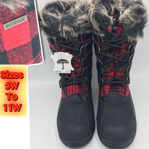 Waterproof Women's Rain/snow Boots Plaid Boots are wide width for Sale in Eatontown, NJ
