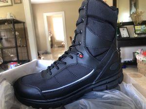 Nuevas botas de piel para trabajo con cierre y cintas sin casquillo $60 tallas 7.5,8,8.5 pero vienen grandes como tallas 8,8.5,9 recoger solamente Da for Sale in Dallas, TX