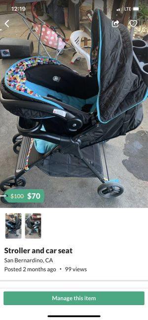 Car seat and stroller for Sale in San Bernardino, CA