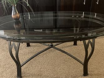 Coffee Table Glass And Metal for Sale in Carlsbad,  CA