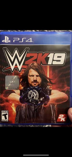 Ps4 wwe 2k 19 for Sale in Fort Wayne, IN