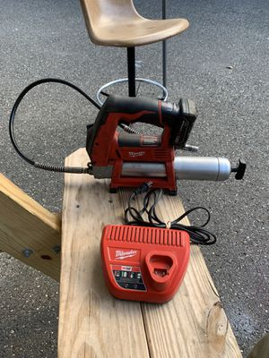 Milwaukee 12V Grease Gun with Battery & Charger for Sale in Seymour, CT