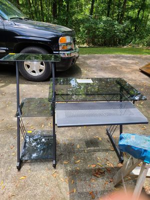 Glass & Metal Computer Desk for Sale in Anderson, SC