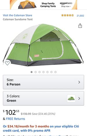 Coleman tent 6 person NEW for Sale in Los Angeles, CA