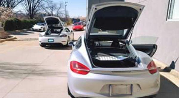 2016 Genuine Porsche Cayman GTS Black OEM TAILPIPE