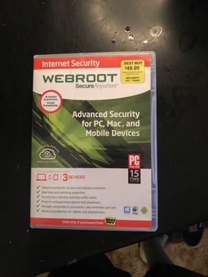Web root internet security for Sale in Hemet, CA