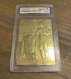 1996 Star Wars Darth Vader Edition C3PO & R2D2 Limited Edition Card 23kt Gold WCG 10 graded for Sale in Ocoee, FL