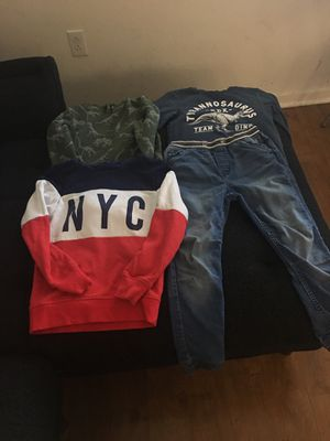 Kids clothes -6-8 years ( 3 sweatshirt plus one jeans) for Sale in Irvine, CA