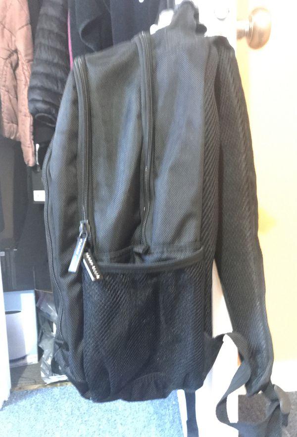Perry Ellis Black Backpack - 4 pockets + laptop slot