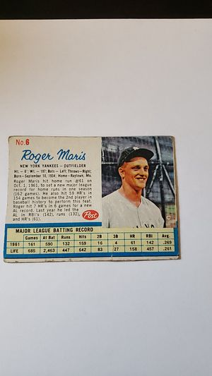 Roger Maris Baseball Card for Sale in Norman, OK