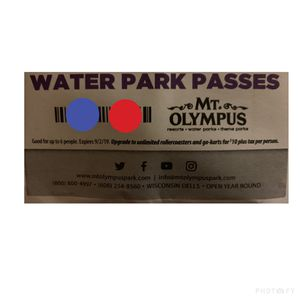 Mt. Olympus Waterpark Passes for Sale in Neenah, WI