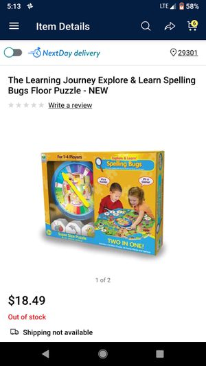 Spelling bugs game puzzle for Sale in Wellford, SC