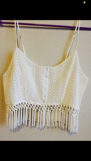 White button-up crop top for Sale in Austin, TX