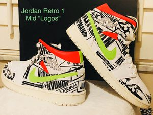 "Air Jordan 1 Retro Mid ""All Over Logos"" for Sale in Land O Lakes, FL"