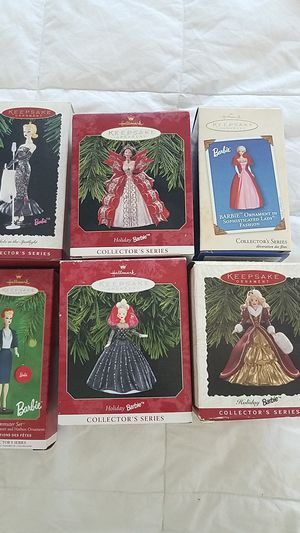 Six Collector Barbie Ornaments by Hallmark for Sale in St. Petersburg, FL