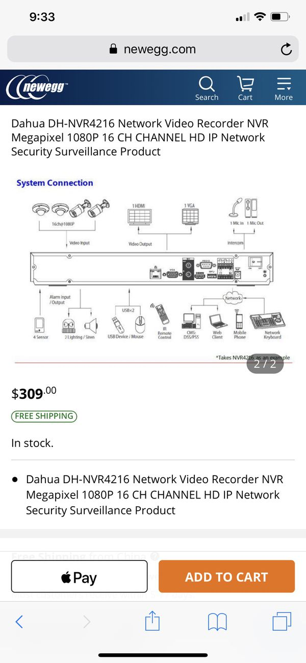 Dahua DH-NVR4216 Network Video Recorder NVR Megapixel 1080P 16 CH CHANNEL HD IP Network Security Surveillance Product