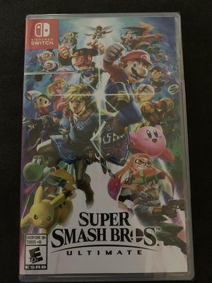 Super Smash Bros Ultimate Nintendo Switch for Sale in Dallas, TX