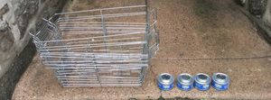 9 Sterno Candle Lamp Wire Chafing Dish Racks plus 4 Sterno Handy Wick Chaffing Fuels for Sale in Philadelphia, PA