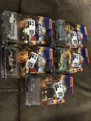 5 Matchbox Jurassic World legacy Collection Cars LOT for Sale in Garland, TX
