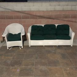 Patio sofa and chair for Sale in Compton,  CA