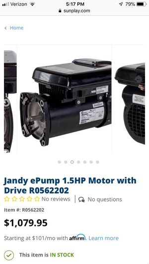 Variable speed pump/ drive. Includes 3 year warranty 600$ that's half off. I owned couple of pool stores just going through my storage for Sale in Bonita, CA