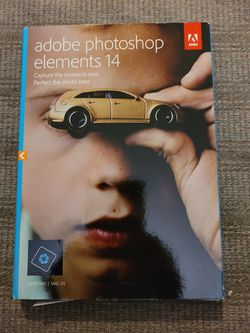 adobe photoshop elements 14 windows/mac with serial number key for Sale in Redmond,  WA
