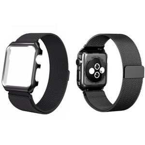 For Apple Watch Series 3/2/1 Milanese Stainless Steel iWatch Band Strap 38/42MM Black for Sale in Riverside, CA
