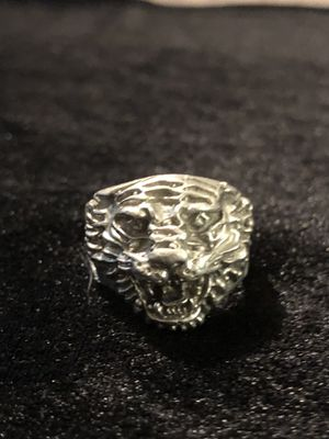 A in great shape Vintage solid silver tiger head ring. Size 12 for Sale in Vacaville, CA