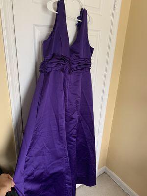 Purple cocktail dress size 22 David bridal dress for Sale in Alexandria, VA