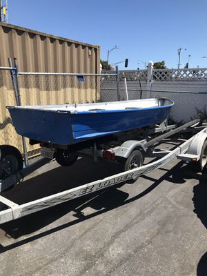 Aluminum Boat with trailer for Sale in San Jose, CA
