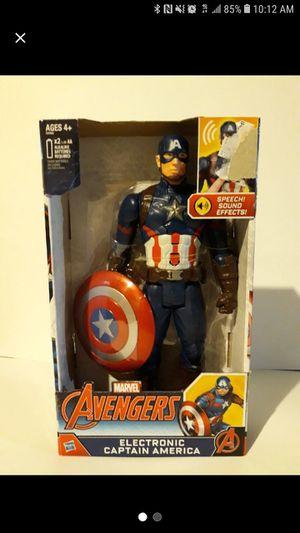 Marvel Avengers Captain America Talking Action Figure for Sale in Garfield, NJ