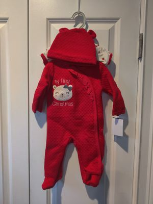 Christmas onesie, PJs and hat size 3/6M girls for Sale in Boston, MA