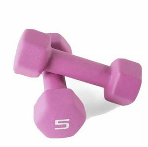 5lb CAP Purple Rubber Hex Dumbbell Weights Pair 10 Lb Total for Sale in Hyattsville, MD