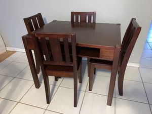 Kids Wooden Table and 4 Chairs for Sale in Stafford Township, NJ