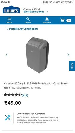 Hisense 400-sq ft 115-Volt Portable Air Conditioner for Sale in Silverthorne,  CO