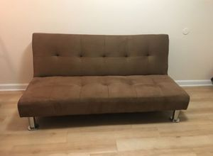 Brand New Brown Microfiber Futon Sofa Bed for Sale in Silver Spring, MD