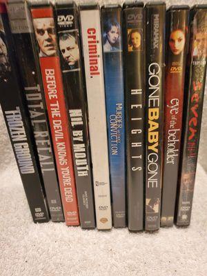 Lot of 10 suspense thriller dvds for Sale in Graysville, TN