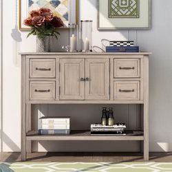 Brand new!Inbox!STYLE 43'' Modern Console Table Sofa Table for Living Room with 4 Drawers, 1 Cabinet and 1 Shelf for Sale in Hacienda Heights,  CA