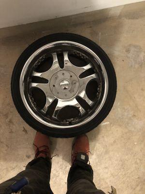 20 inch Diablo rims 3 rim set 3 extra tires wit rims for Sale in Germantown, MD