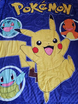 Pokemon comforter with matching pillow cases for Sale in Downey, CA